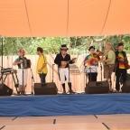 At the Oregon Country Fair Dance Pavilion.